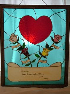 Art: Heart & Roses by Artist Linda J. McGarvey