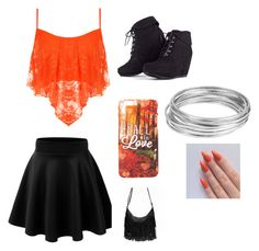 One less lonely girl with orange by ivankkamartinez on Polyvore featuring polyvore, fashion, style, WearAll and Worthington