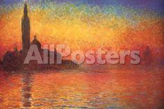 Monet Dusk Venice Landscapes Poster - 91 x 61 cm