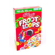 Cereals & Breakfast Foods Family Size Kelloggs Froot Loops With Fruity Shaped Marshmallows Oz & Garden Marshmallow Cereal, Types Of Cereal, Bad Room Ideas, Homemade Trail Mix, Froot Loops, Corn Flakes, Breakfast Cereal, Pop Tarts, Packaging