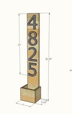 House Numbers Vertical Planter from Cedar Fence Pickets | Ana White