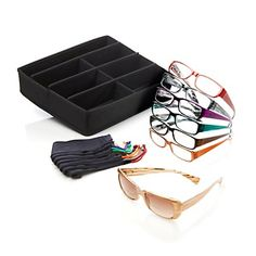 Joy Mangano SHADES Readers 15-piece Set with Valet Storage Tray at HSN.com. Ordered these today...