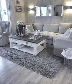 Most comfortable and cozy living room ideas - Wohnen - Apartment Decor Home, Living Room Grey, Apartment Living Room, Living Decor, Cozy Living, Living Room Decor Apartment, Farm House Living Room, Apartment Decor, Home Living Room