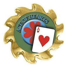 Ace of Hearts Poker Card Guard Spinner - Casino Supply