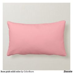 Rose pink solid color lumbar pillow Personalized Pillows, Custom Pillows, Decorative Throw Pillows, Coral Blue, Coral Color, Pillow Design, Fabric Design, Artwork For Home, Pink Cushions
