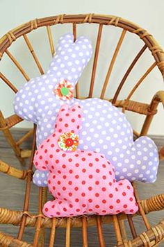 diy couture coussin lapin