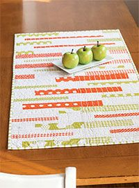 """24X48 Table runner kit made with 8 12"""" blocks but could be made with careful strip piecing- Fons & Porter"""