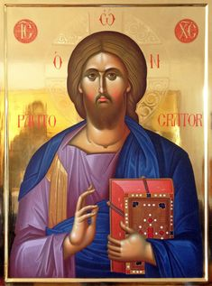 Constantine Olarean: the Painter of Saints from Cyprus Byzantine Icons, Byzantine Art, Religious Icons, Religious Art, Christ Pantocrator, Church Icon, Images Of Christ, Christian Artwork, Orthodox Icons