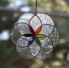 Seed Of Life Stained Glass Suncatcher