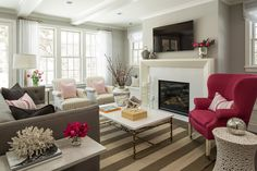 Wide striped rug visually widens space - 7 Ways to Incorporate Stripes into Your Home Decor