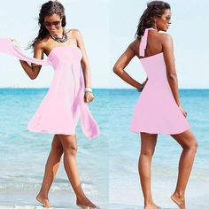 Brand New Summer Push Up Beach Dress Women Bandeau Swimsuit Cover Ups Multi Wear Bikini Cover Up Strappy Long Beach Cover Up XL