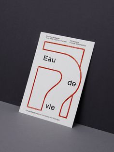 Flyers announcing a party series offering a selection of fine brandies and good music. The french title means 'Water of Life' as a metaphor for 'schnapps'. The lines are hand printed using a metal printing plate. In collaboration with Andrea Rüeger.    Fonts: Sanzettica