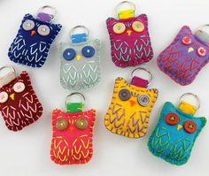 Wholesale Lot of 8 Eco Felt Owl Keychains by lovahandmade on Etsy, $48.00