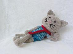 Mat the Cat, handmade crocheted amigurumi
