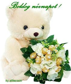 Cute teddy bear emoticon holding bouquet of flowers Gifs, Merci Gif, Whatsapp Fun, Teddy Day, Images Gif, Pictures Images, Beautiful Gif, Beautiful Friend, Funny Animal Pics