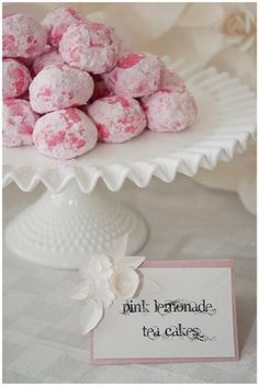 Pink Lemonade Tea Cakes. Delightfully girly!