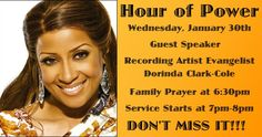 If you've missed the whole month, DO NOT MISS THIS!!!  Dorinda Clark Cole at LIGHTHOUSE!!!
