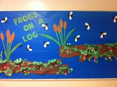 Frog on a Log! | Spring Bulletin Board Idea