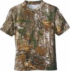 CHILDRENS JUNGLE TREE CAMOUFLAGE CAMO SHORT SLEEVE TSHIRT TOP GREEN BROWN 2-13