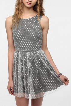6749abc263 One   Only x Urban Renewal Lace Polka Dot Dress