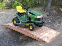 Build A Wooden Bridge Small Over Creek That Will Carry Lawn Mower