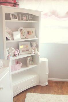 Pretty Pink, Gray, and White Nursery | The Little Umbrella