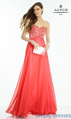 Shop lace-up prom dresses and classic formal dresses at Simply Dresses. Lace sweetheart dresses and ball gowns with corset-style bodices.