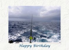 Birthday Fishing Greeting Card