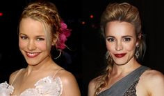 Not only do I love Rachel McAdams, but I LOVE her hair in the first and makeup in the second