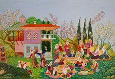 """Ömer Faruk Atabek (Turkish, 1933-2000), Detail from the """"Düğün Yemeği"""" (Wedding Feast)"""