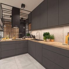 21 Modern Kitchen Ideas Every Home Cook Needs to See - Site Home Design Industrial Kitchen Design, Kitchen Room Design, Contemporary Kitchen Design, Kitchen Cabinet Design, Home Decor Kitchen, Interior Design Kitchen, Modern Kitchen Cabinets, New Kitchen, Home Kitchens