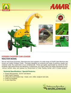 Chop any kind of Fodder Agricultural Implements, Cutter Machine, Ulzzang Girl, Chopper, Tractors, Model, Agricultural Tools, Scale Model