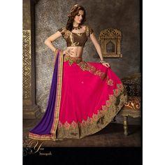 Indian Asia PakistanI Bollywood Designer Party Bridal lehenga choli long skirt georgette STITCHED purple pink  wedding collection