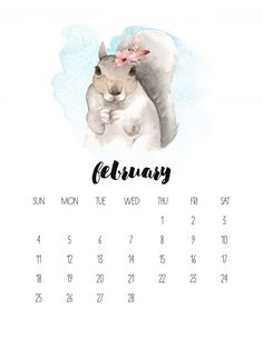 It's time for your Free Printable 2018 Watercolor Animal Calendar. Animal lovers of all kinds are going to flip at this pretty creation! Enjoy!
