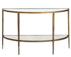 Demilune Tables - Hallway Demi Lune Console Tables - ELLE DECOR
