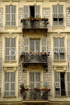 french mediterranean balconies - Google Search