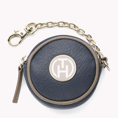 Make an entrance with Tommy Hilfiger's circular, leather coin purse