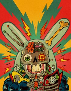 MetalHare | illustration by RalphNiese, via deviantART