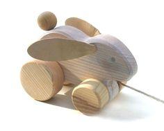 Pull Along Toys - Rabbit - Handmade