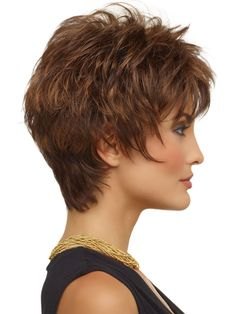 SIDE 1 - a classic short textured cut. Razored layers create volume and lift at the crown. Soft wispy bangs and sides frame the face perfectly. And extended nape hugs the neck and creates a modern silhouette.