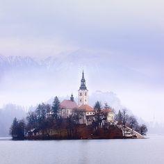 Winter Pastels,Bled, Slovenia