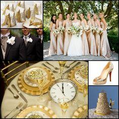 black and gold wedding decorations   gold wedding