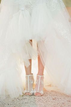 Lace wedding shoes f