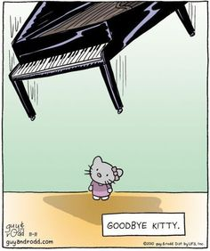 """Wonder if she sees """"smelly cat"""" in kitty heaven."""