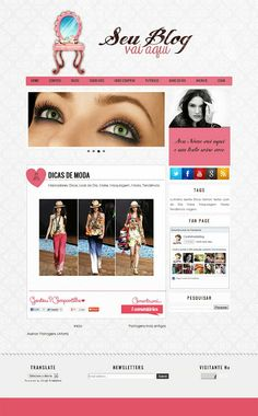 Cantinho do blog Layouts e Templates para Blogger: Templates para Blogs Femininos