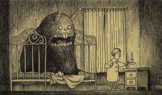 The Unspeakable Horrors of HP Lovecraft as envisioned by Edward Gorey (artist John Kenn Mortensen) Edward Gorey, Arte Horror, Horror Art, Creepy Art, Scary, Bizarre Art, Don Kenn, Illustrations, Illustration Art