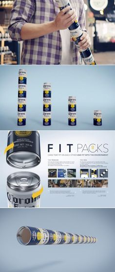 Corona Asks Why Use A Six-Pack Ring When You Could Just Stack The Cans Instead? | Dieline