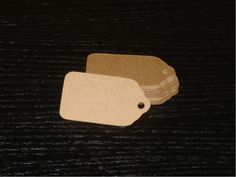 50 Blank Medium Kraft Price Tags / Gift Tags / by rosepetals1988, $4.00