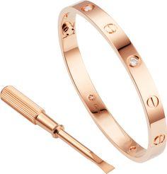 Bracelet Love 4 diamantsOr rose, diamants