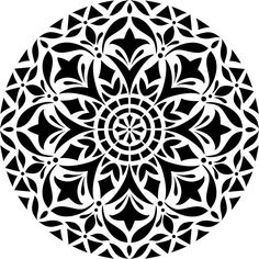 Mandalas are fun for painting on fabric, signs, walls and even floors. Stencil plastic is 12 in. high x 12 in. Pattern is 10 in. high x 10 in wide. Precision cut from durable 10 mil plastic. Stencil Fabric, Stencil Patterns, Stencil Painting, Stencil Designs, Fabric Painting, Mandala Tattoo Design, Dotwork Tattoo Mandala, 16 Tattoo, Hand Tattoo